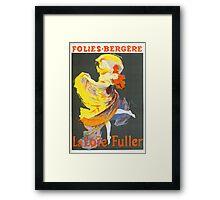 Vintage Jules Cheret 1896 La Loie Fuller Framed Print