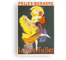 Vintage Jules Cheret 1896 La Loie Fuller Canvas Print