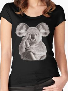 SAVE THE KOALA Women's Fitted Scoop T-Shirt