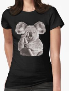 SAVE THE KOALA Womens Fitted T-Shirt