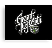 Grand Theft Auto 5 YouTube Logo Canvas Print