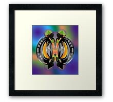 """Solo Stone"" Upside Down 'Ambigram' Art by L. R. Emerson II Framed Print"