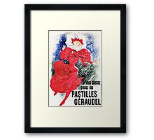 Vintage Jules Cheret 1895 Pastilles Geraudel Framed Print