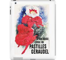 Vintage Jules Cheret 1895 Pastilles Geraudel iPad Case/Skin