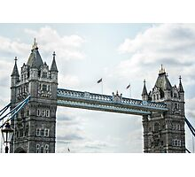 Close Up of Tower Bridge Photographic Print