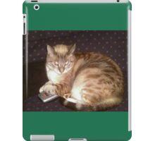 My Cat Hogging The Controler iPad Case/Skin