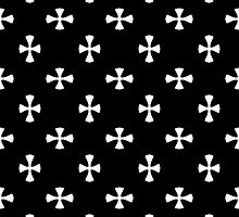 Black and White Cross Pattern by BuzzEdition