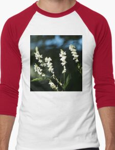 White Flowers Men's Baseball ¾ T-Shirt