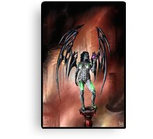 Robot Angel Painting 022 Canvas Print