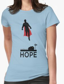Superman is Hope Womens Fitted T-Shirt
