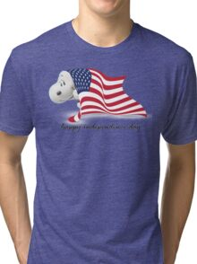 Snoopy Happy Independence Day Tri-blend T-Shirt
