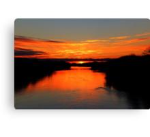 Sunrise on the Assiniboine Canvas Print
