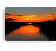 Sunrise on the Assiniboine Canvas Print