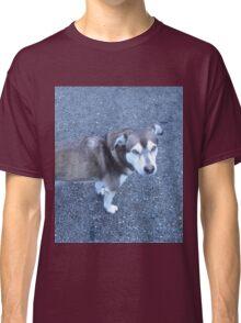 Cute Half Dog Classic T-Shirt