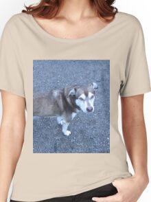 Cute Half Dog Women's Relaxed Fit T-Shirt