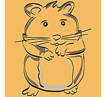 hamster rodent drawing mammal nature comic funny Photographic Print