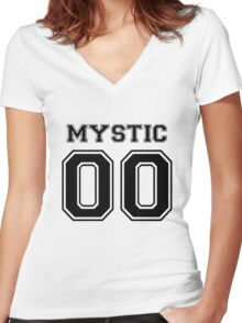 'Mystic' Varsity Tee Women's Fitted V-Neck T-Shirt