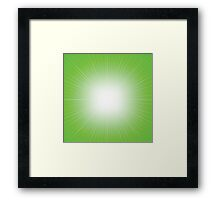 green abstract background Framed Print