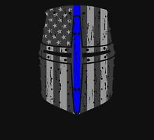 Thin Blue Line Crusader Helm Unisex T-Shirt