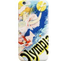 Vintage Jules Cheret 1896 Olympia iPhone Case/Skin
