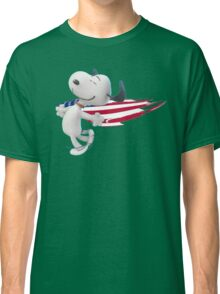 Snoopy With The American Flag copy Classic T-Shirt