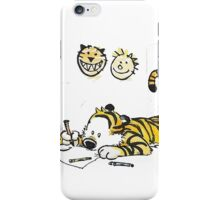 calvin and hobbes reading iPhone Case/Skin