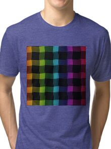 abstract colorful line background Tri-blend T-Shirt