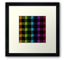 abstract colorful line background Framed Print