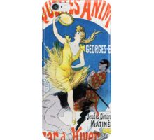 Vintage Jules Cheret 1896 Maquettes Animees iPhone Case/Skin