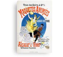 Vintage Jules Cheret 1896 Maquettes Animees Canvas Print