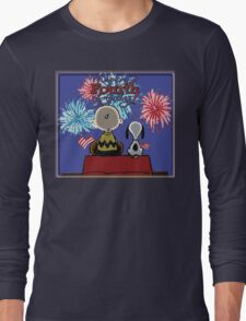 Snoopy And Charlie Happy Fourth Of July Long Sleeve T-Shirt