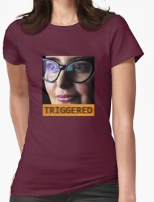 TRIGGERED FEMINIST MEME Womens Fitted T-Shirt