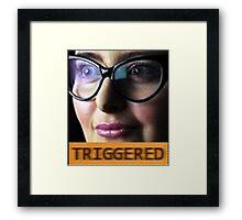 TRIGGERED FEMINIST MEME Framed Print