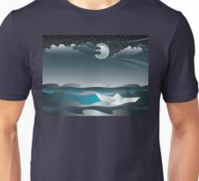 Paper Boat in the Sea 3 Unisex T-Shirt