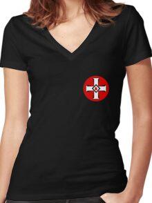 KKK Logo Women's Fitted V-Neck T-Shirt