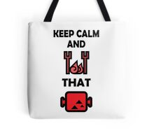 Keep Calm and BBQ that Meat Tote Bag