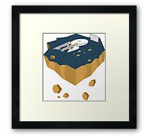 Enterprise at the Drive In Framed Print