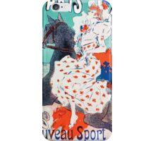 Vintage Jules Cheret 1896 Paris Courses iPhone Case/Skin