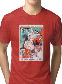 Vintage Jules Cheret 1896 Paris Courses Tri-blend T-Shirt