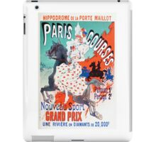 Vintage Jules Cheret 1896 Paris Courses iPad Case/Skin