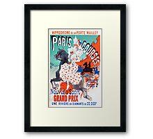 Vintage Jules Cheret 1896 Paris Courses Framed Print
