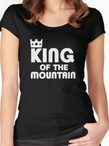 King of the Mountain Cycling Bike MTB Women's Fitted Scoop T-Shirt