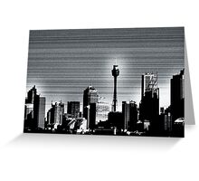 Graphite Skyline Greeting Card