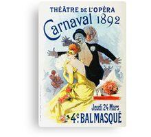 Vintage Jules Cheret 1896 Carnaval 1892 Canvas Print