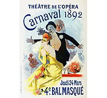 Vintage Jules Cheret 1896 Carnaval 1892 Photographic Print