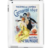 Vintage Jules Cheret 1896 Carnaval 1892 iPad Case/Skin