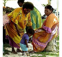 Port Vila, Vanuatu.  Colourful Melanesian people. Photographic Print