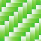green abstract wave background by valeo5