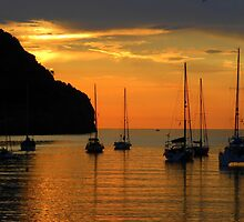 Sunset Over Port de Soller............................Majorca by Fara