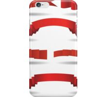 set of red banners iPhone Case/Skin